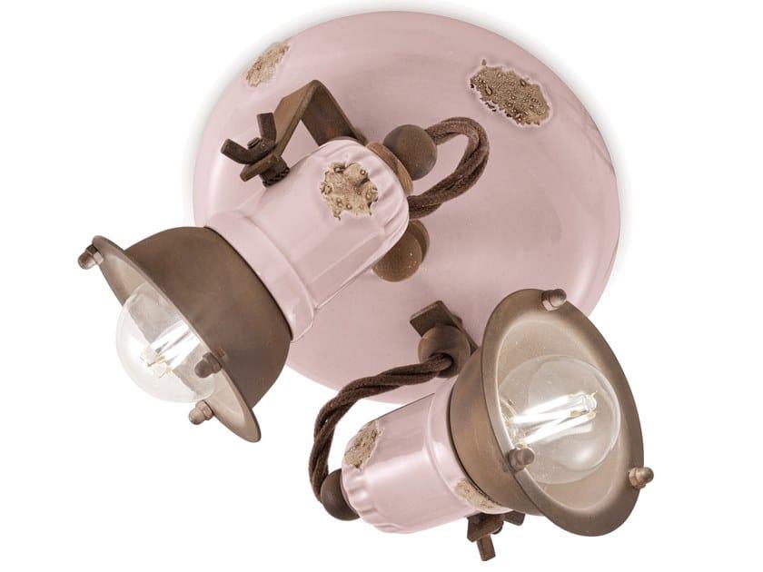 Multiple adjustable round ceramic spotlight LOFT | Multiple spotlight by FERROLUCE