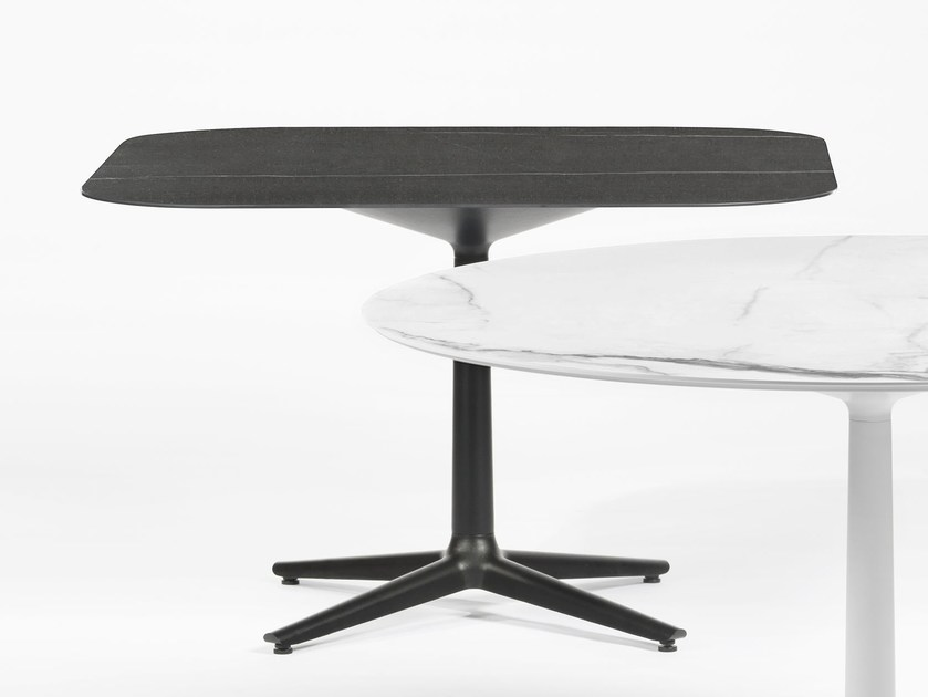Square table with 4-star base MULTIPLO by Kartell