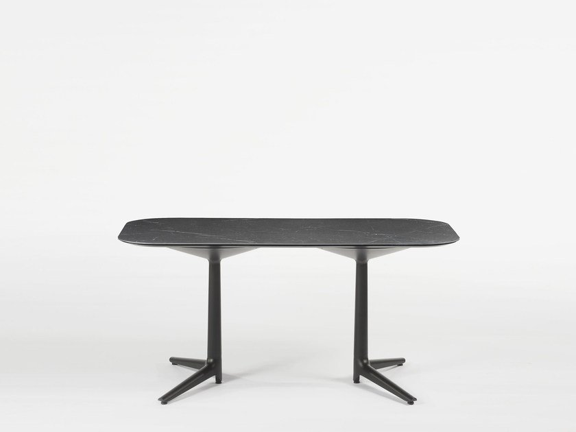 Rectangular coffee table MULTIPLO LOW by Kartell