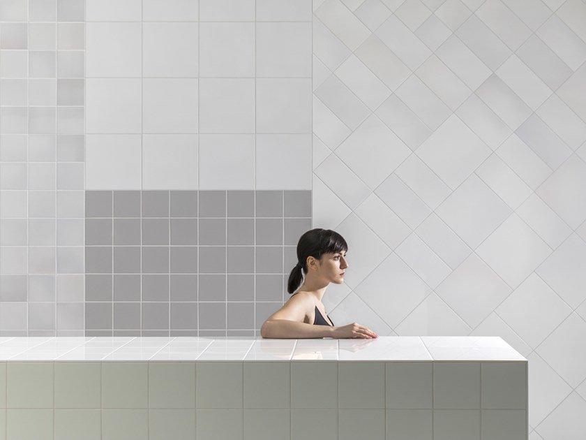 Indoor ceramic wall tiles MURALS FUSE by Mosa