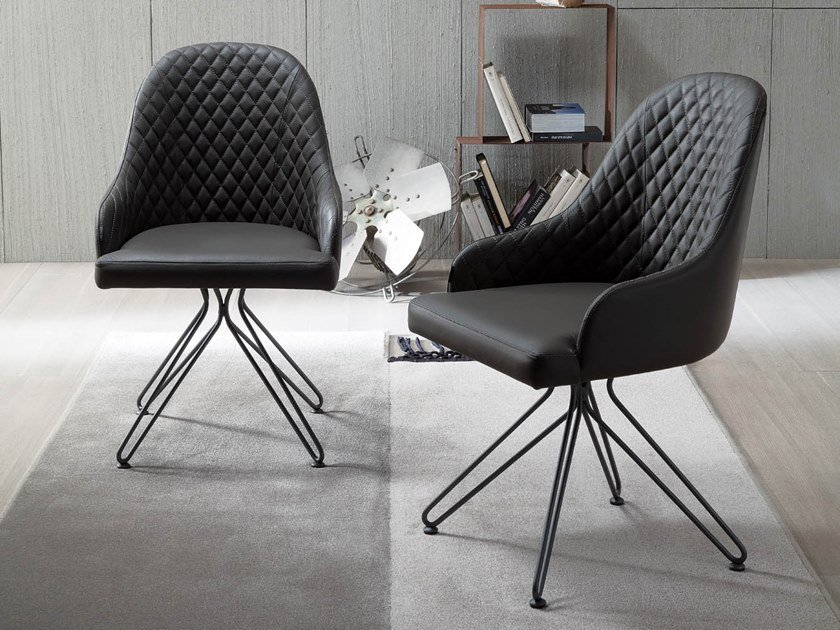 Upholstered chair with armrests MURIEL by Ozzio Italia