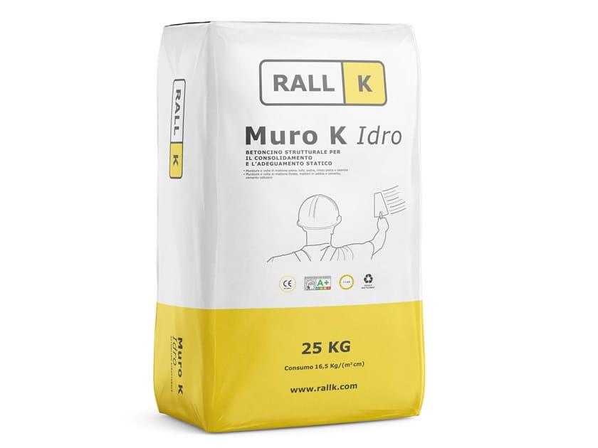Malta idrorepellente a base calce idraulica naturale MURO K IDRO by RALLK