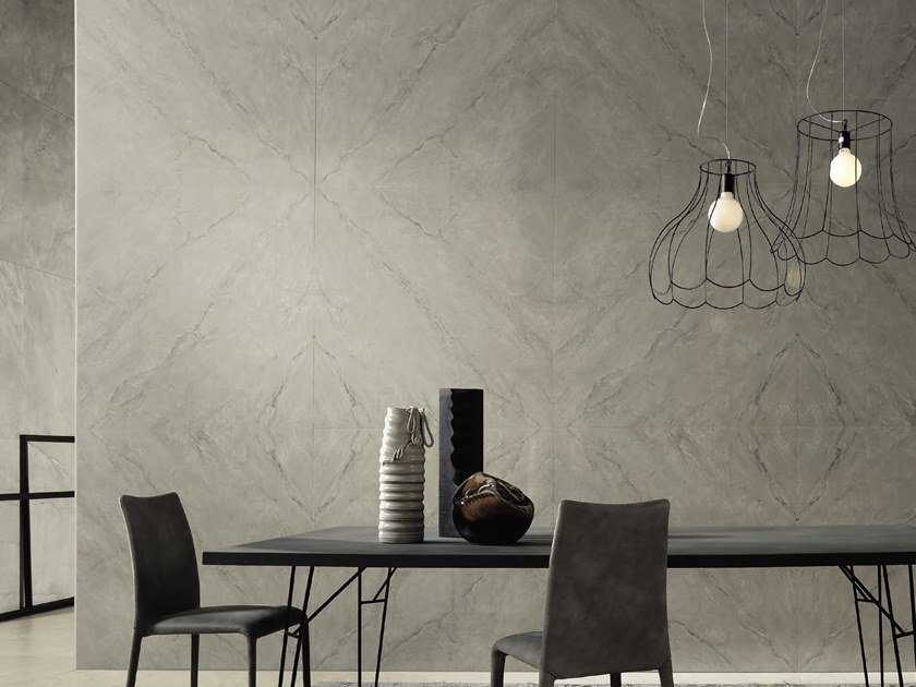 Porcelain stoneware wall/floor tiles with marble effect MUSE G by Ceramica d'Imola