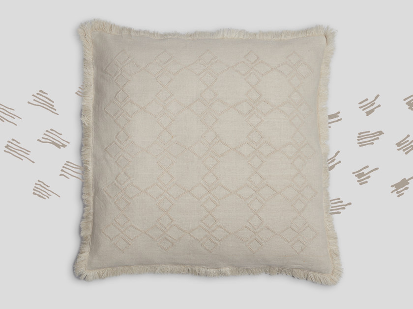 Hand embroidered cushion MUSEET by Jupe by Jackie