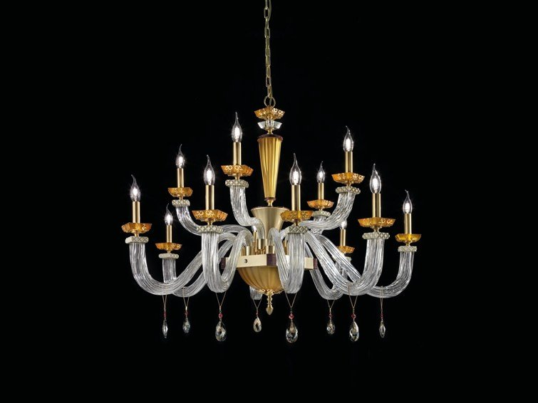 Chandelier with Swarovski® Crystals MUSEUM L6+3+3 by Euroluce Lampadari