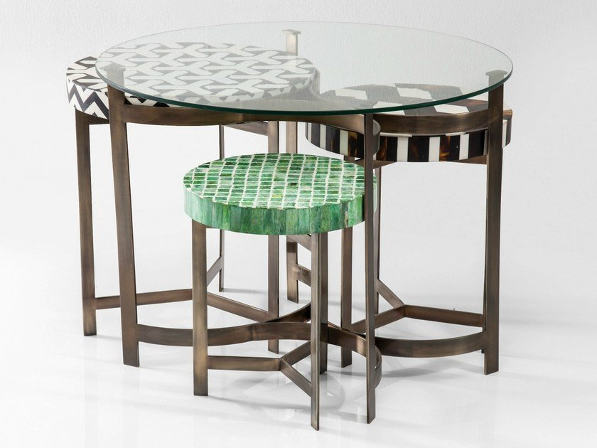 Stool / coffee table MUSIVO ROUND by KARE-DESIGN