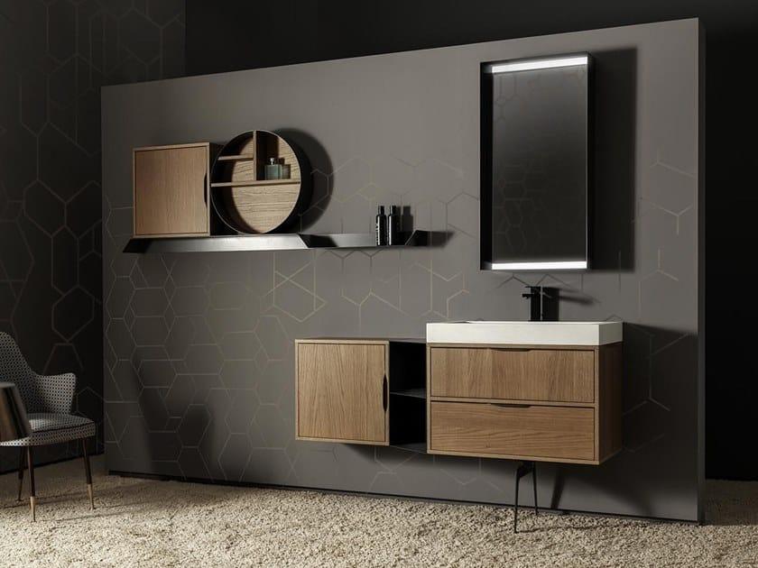Mobile lavabo sospeso con cassetti MUTEVOLE 07 by Karol