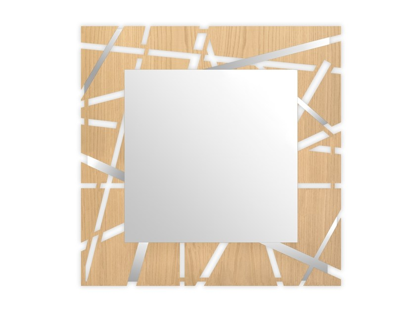 Square wall-mounted framed mirror MW-095QSP | Mirror by LAS