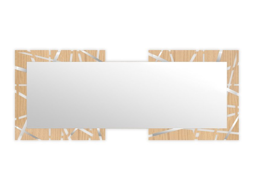 Rectangular wall-mounted framed mirror MW-095SP | Mirror by LAS