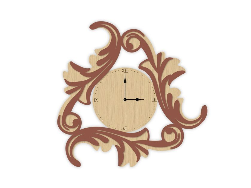 Wall-mounted MDF clock MW-245OR | Clock by LAS