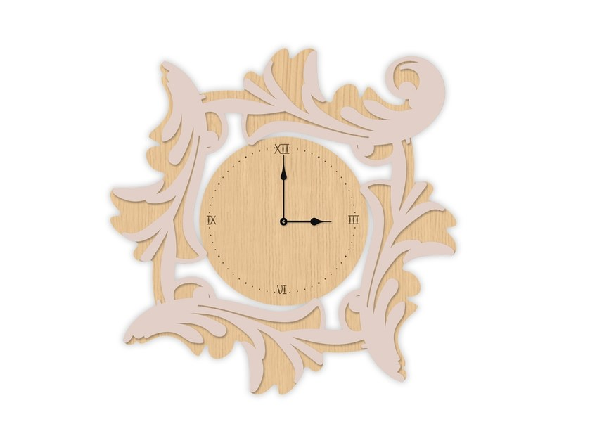 Wall-mounted MDF clock MW-246OR | Clock by LAS