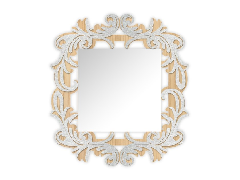 Square wall-mounted framed mirror MW-247SP | Mirror by LAS