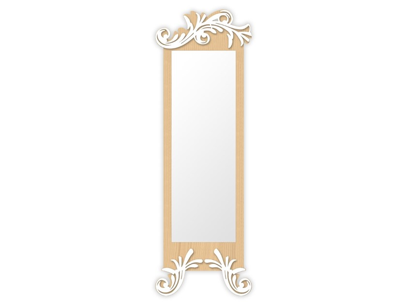 Rectangular wall-mounted framed mirror MW-250SP | Mirror by LAS
