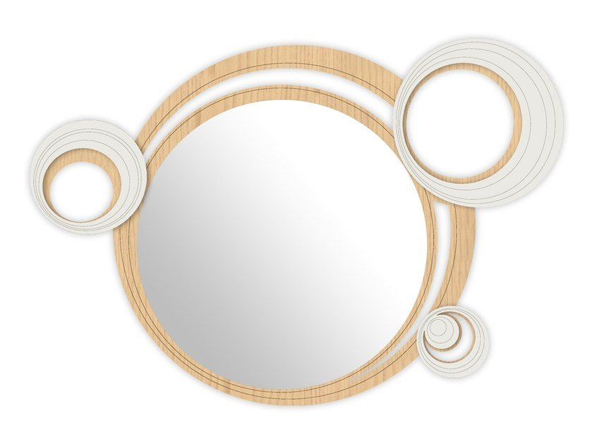 Round wall-mounted framed mirror MW-296 | Mirror by LAS