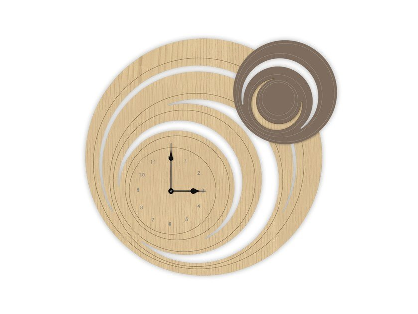 Wall-mounted MDF clock MW-297 | Clock by LAS
