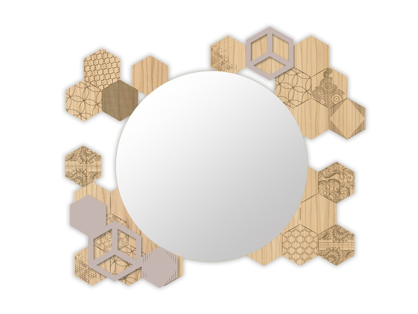 Round wall-mounted framed mirror MW-311 | Mirror by LAS