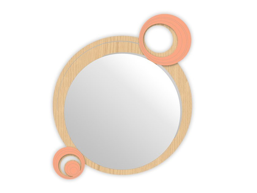 Round wall-mounted framed mirror MW-320 | Mirror by LAS