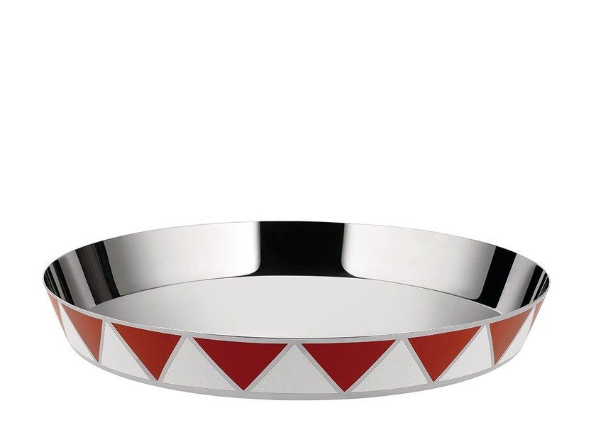 Round stainless steel tray MW56 | Tray by Alessi