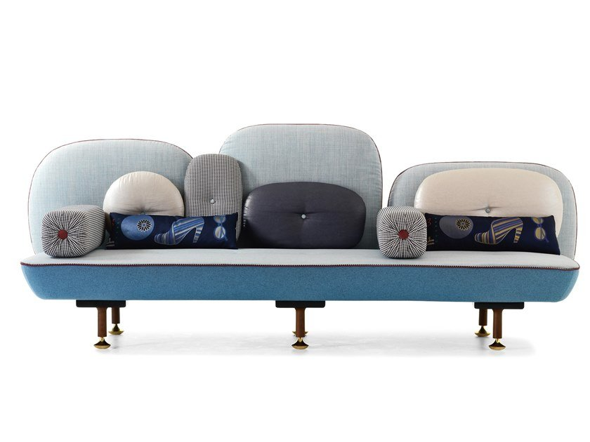 Fabric bench with back MY BEAUTIFUL BACKSIDE by Moroso