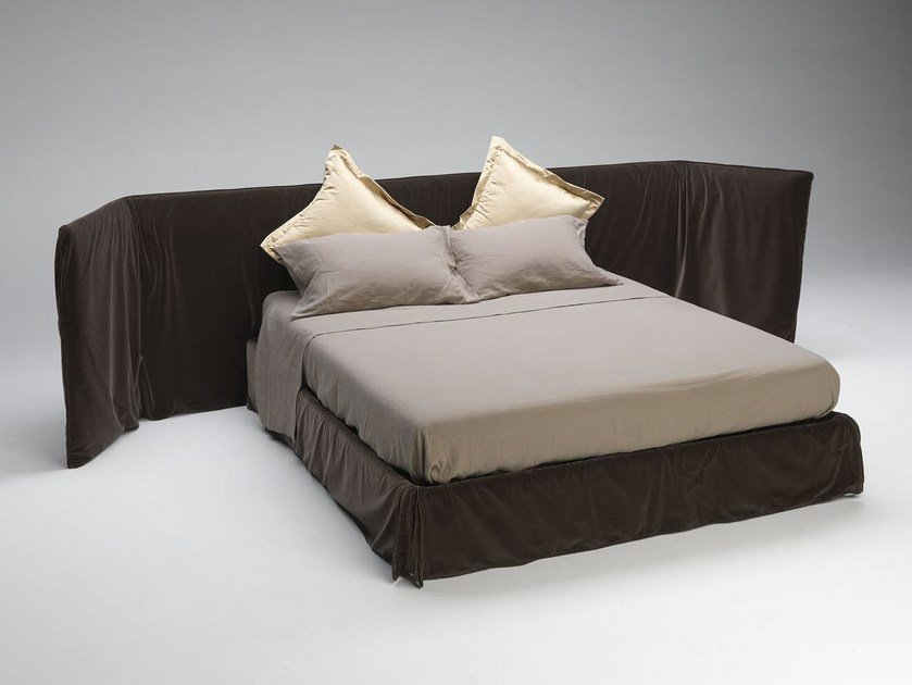 Double bed with upholstered headboard MY BED by Paolo Castelli