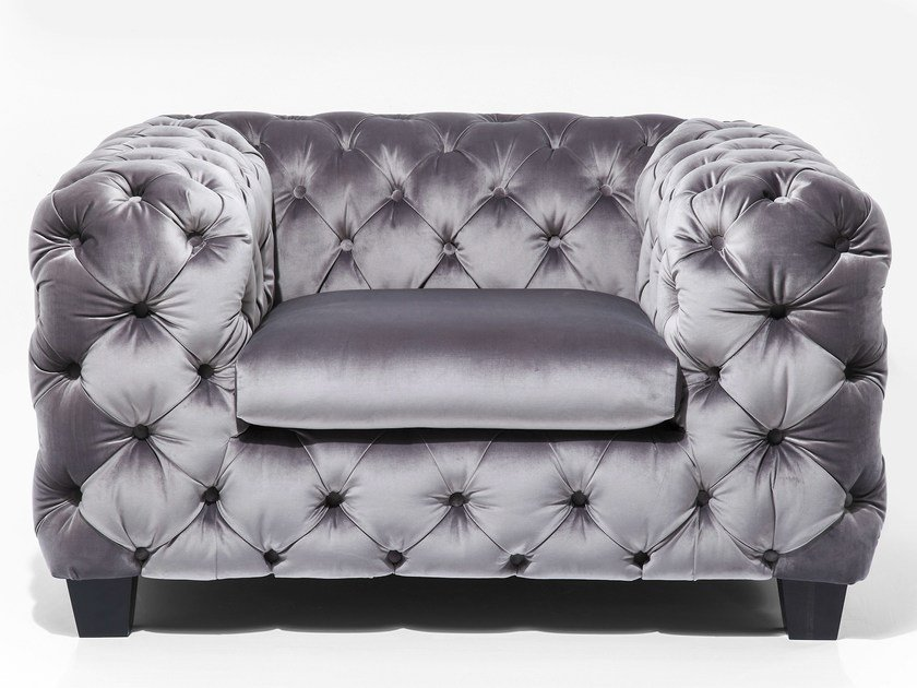 Tufted fabric armchair with armrests MY DESIRE | Armchair by KARE-DESIGN
