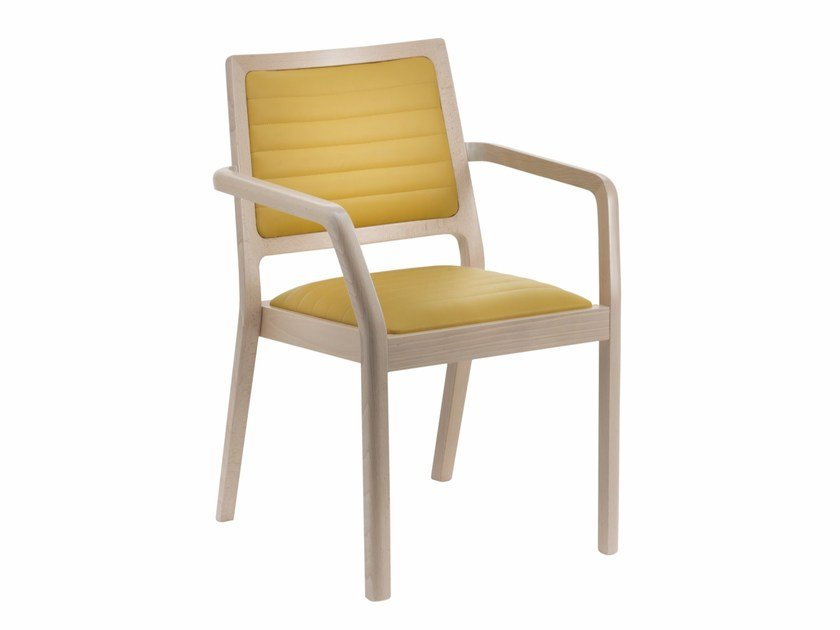 Upholstered chair with armrests MY FRAME SM120 B by Segis
