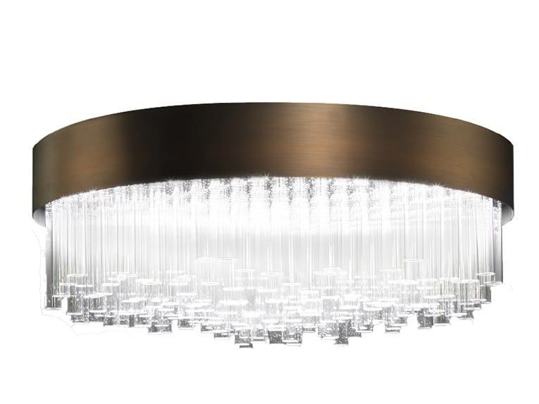 Plafoniera a LED in vetro borosilicato e metallo MY LAMP   Plafoniera by Paolo Castelli