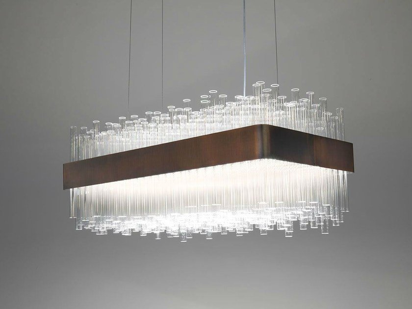 Glass pendant lamp MY LAMP RECTANGULAR by Paolo Castelli