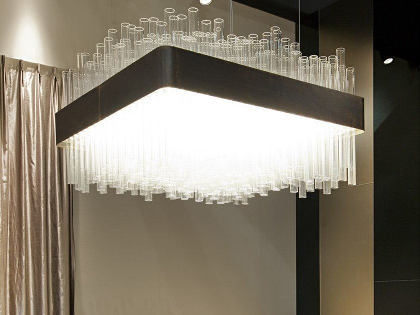 Glass pendant lamp MY LAMP SQUARE by Paolo Castelli