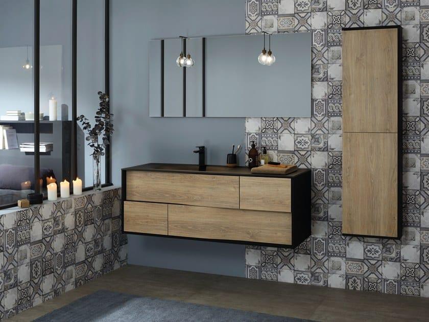 Single wall-mounted vanity unit with drawers MY LODGE by SANIJURA