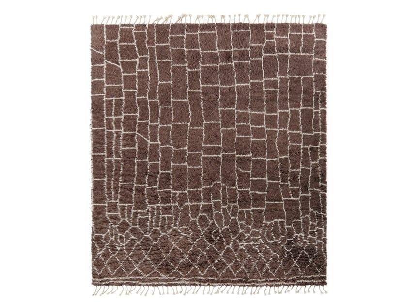 Patterned wool rug MY ROCKO by miinu
