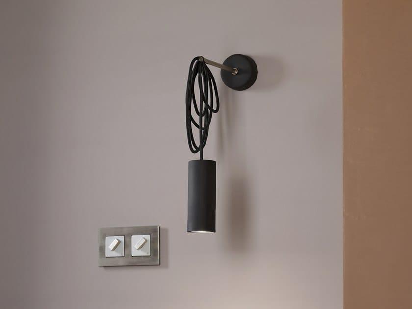 Direct light wall lamp MY STICK'N'WIRE CILINDRO GU10 by GI Gambarelli