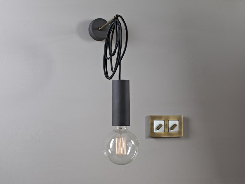 Direct light wall lamp MY STICK'N'WIRE CILINDRO by GI Gambarelli