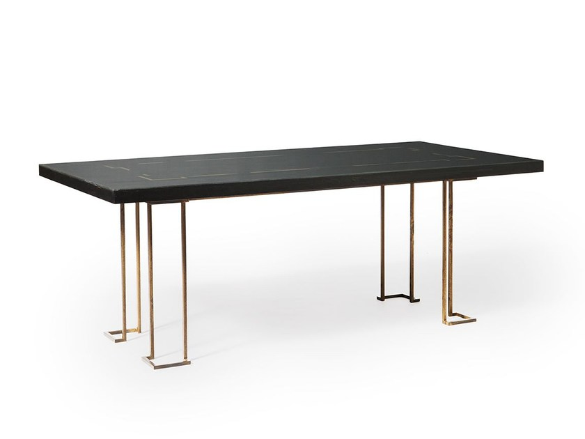 Lacquered rectangular table MY TABLE by Paolo Castelli