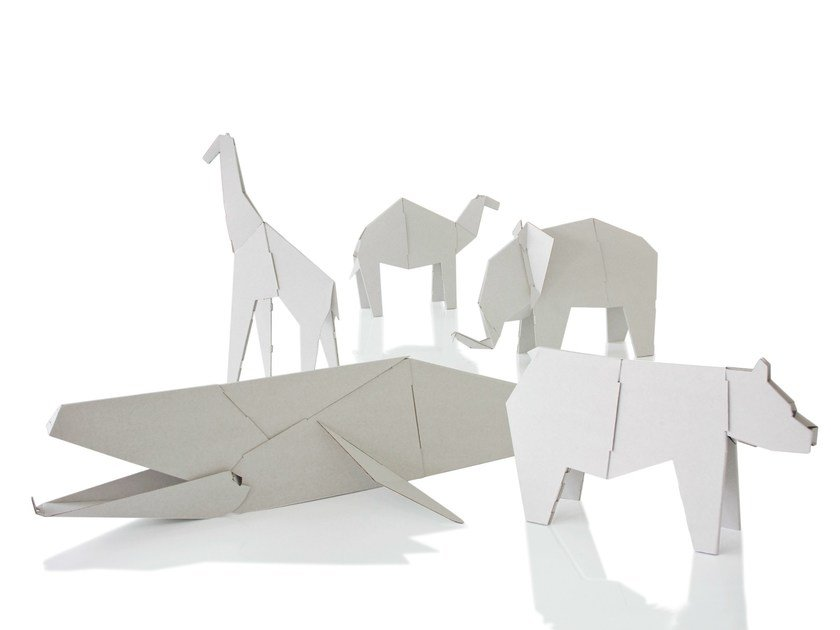 Cardboard game for children MY ZOO by Magis