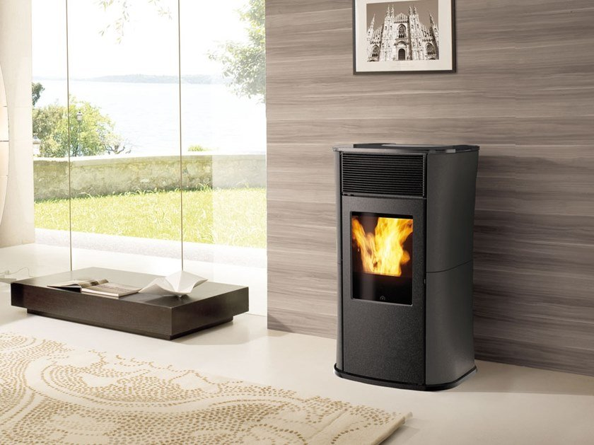 Pellet steel stove MYA AIR TIGHT | Steel stove by EDILKAMIN