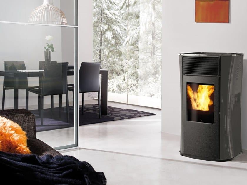 Pellet glass stove MYA ECO | Glass stove by EDILKAMIN