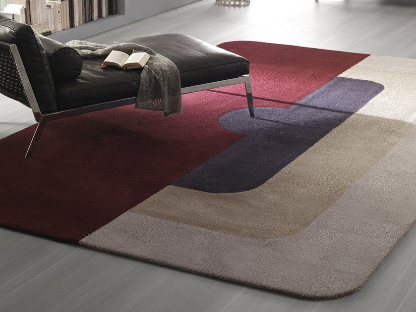 Handmade fabric rug MAYFAIR by Besana Moquette