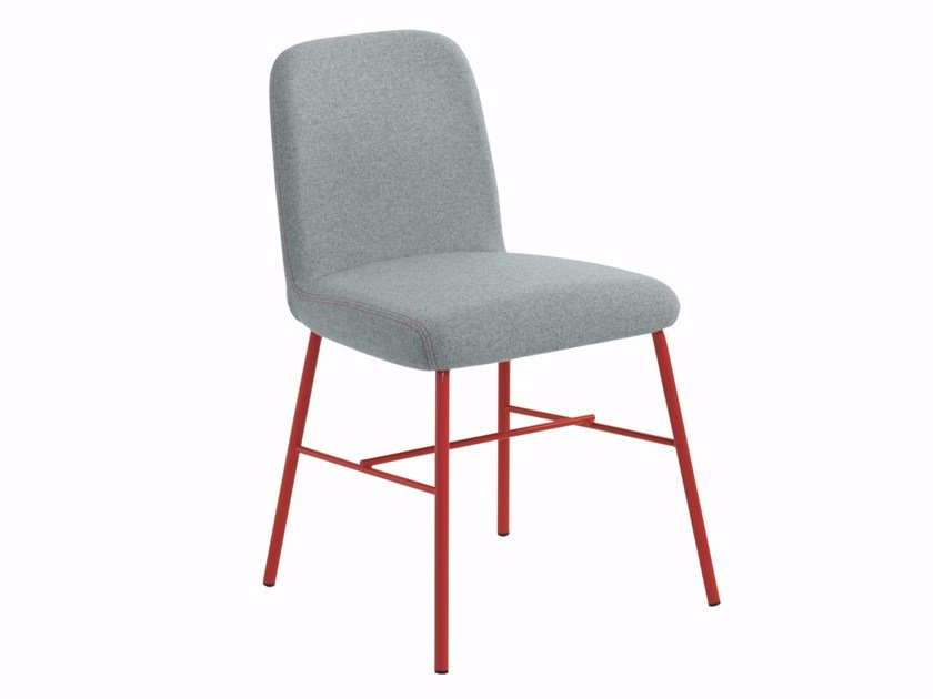 Upholstered fabric chair Myra 652 by Metalmobil