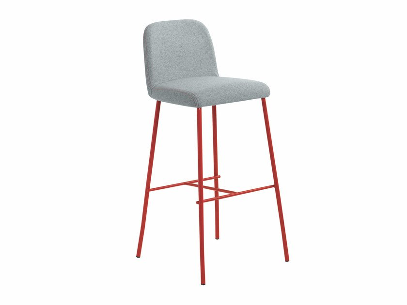 Upholstered fabric counter stool Myra 654 by Metalmobil