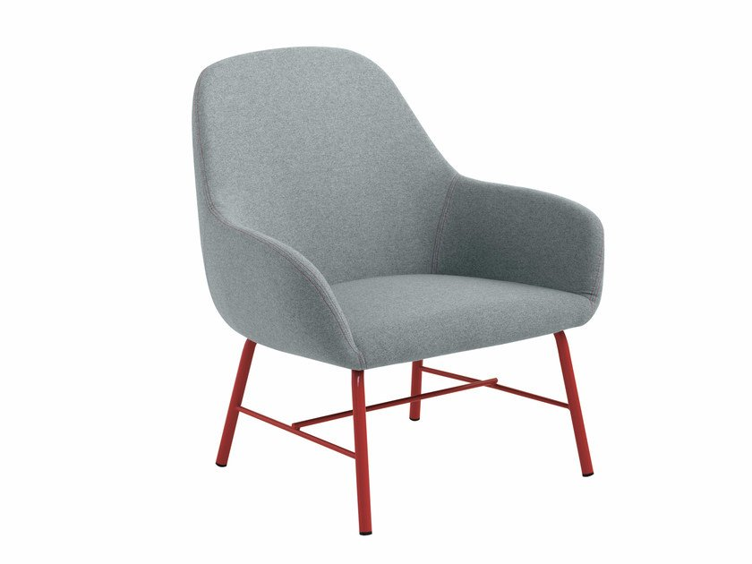 Fabric armchair with armrests Myra 655 by Metalmobil