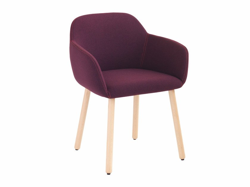Fabric chair with armrests Myra 657 by Metalmobil