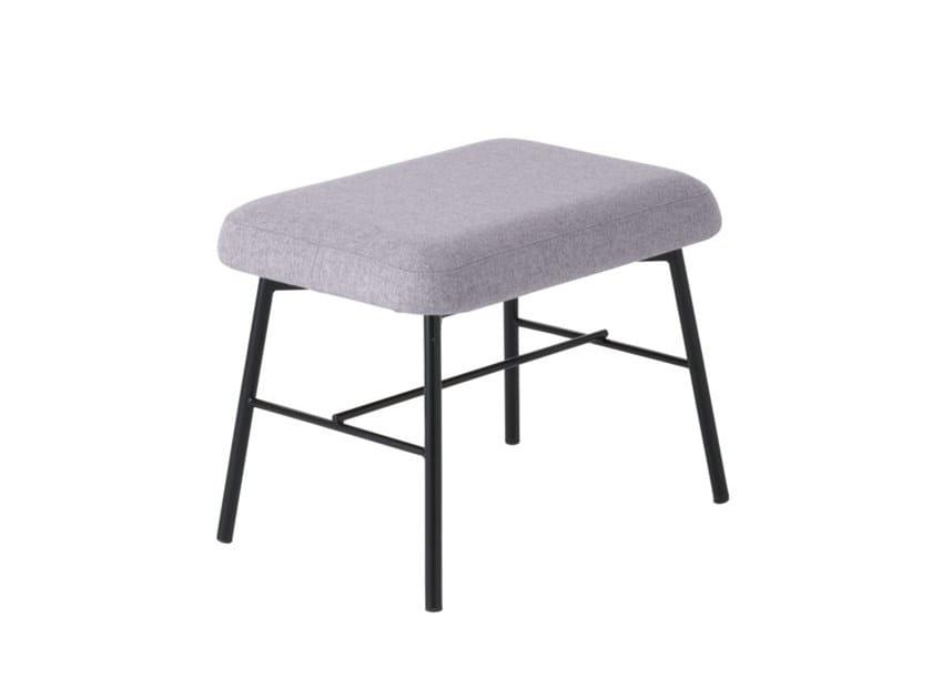 Low fabric stool Myra 667 by Metalmobil