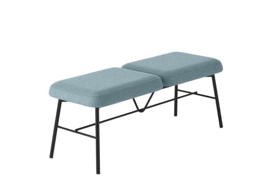 Upholstered fabric bench Myra 668 by Metalmobil