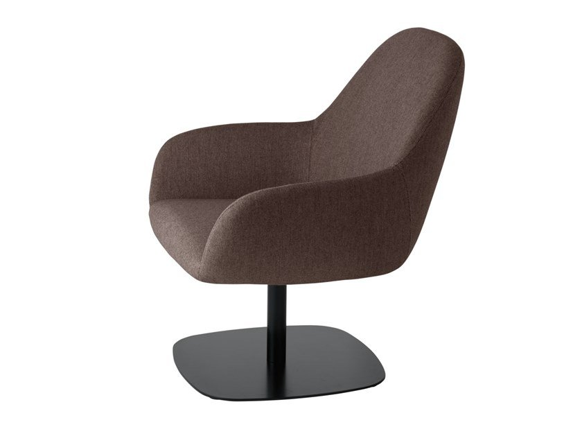 Swivel fabric armchair with armrests MYRA 676 by Metalmobil
