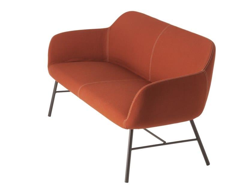 Fabric small sofa MYRA 679 by mETALmobil