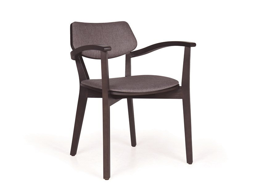 Upholstered solid wood chair MYRANDA CB by Fenabel