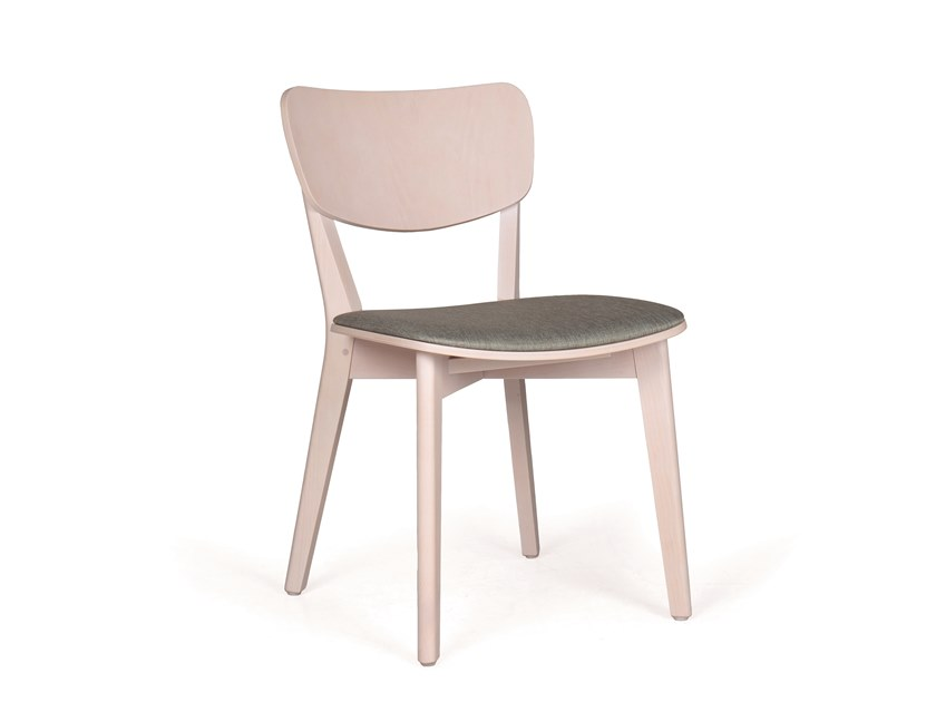 Upholstered solid wood chair MYRIAM PL by Fenabel