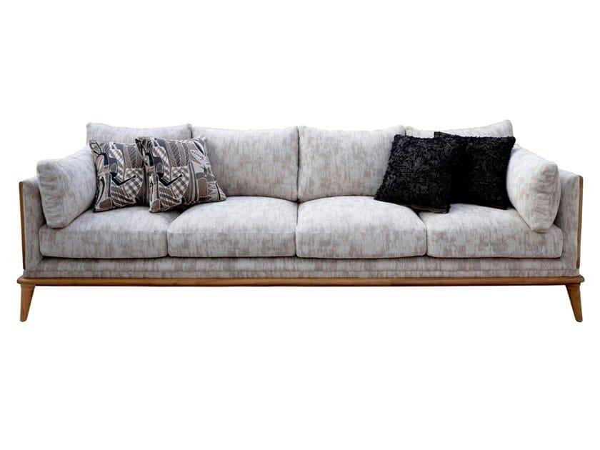 4 seater fabric sofa MYSIG | 4 seater sofa by ALANKARAM