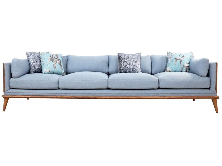 5 seater fabric sofa MYSIG | 5 seater sofa by ALANKARAM
